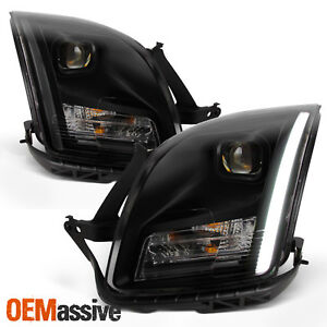 Fits 2006 2007 2008 2009 Ford Fusion Light Bar Black Smoked Projector Headlamps
