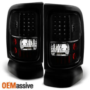 Fit 1994 2001 Dodge Ram 1500 2500 3500 Black Led Tail Lights L R