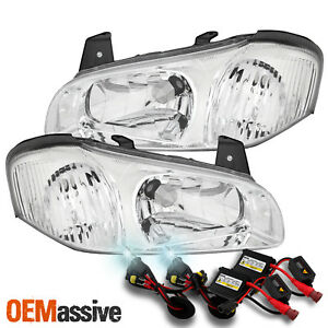 Fits 2000 2001 Maxima Both Left Right Side Headlights Pair Slim 6000k Hid