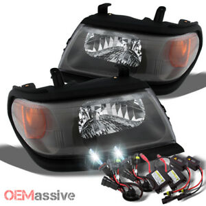 Fit 00 04 Mitsubishi Montero Sport Replacement Black Headlights 6k Hid