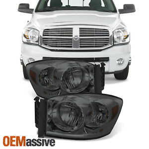 Fit 2006 2008 Dodge Ram 1500 06 09 2500 3500 Headlights Lights Pair Left Right