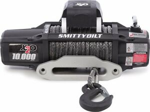 Smittybilt 98510 X2o Waterproof Synthetic Rope Winch 10000 Lb Load Capacity