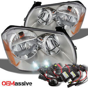 Fit 05 07 Dodge Magnum Replacement Clear Headlights 6000k White Hid