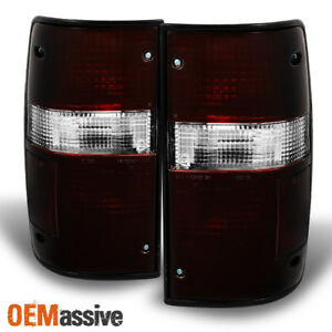 Fits 89 95 Toyota Pickup 2wd 4wd Dark Red Tail Lights Brake Lamps Repalcement