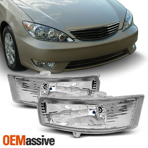 Fits 05 06 Toyota Camry Clear Bumper Fog Lights W Switch Bulbs Wiring Left Right
