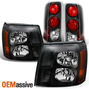 Fit 2003 2006 Cadillac Escalade Hid Type Black Headlights taillights L r