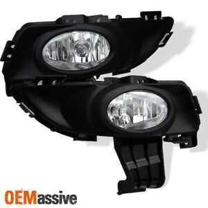 Fits 04 06 Mazda3 Mazda 3 4dr Clear Fog Lights Lamps W switch Bulb Left right