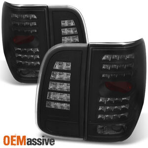 Fit 03 06 Lincoln Navigator Black Smoke Led Tail Lights Replacement