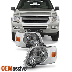 Fit 2006 2010 Ford Explorer Headlights Lamps Replacement 06 07 08 09 10 L R