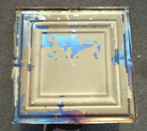 Sale Antique Ceiling Tin Tile Simple And Elegant Framed Canvas Iridescent Chic