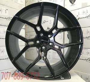 22x9 10 5 Giovanna Wheels Haleb Gloss Black Rims Fits Camaro Ss Rs Zl1 Lt Z28