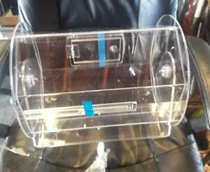 16 Clear Acrylic Counter Top Raffle Drum With Locking Door