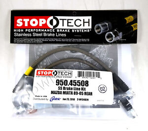 Stainless Steel Rear Brake Lines For 90 05 Mazda Miata Mx 5 Na Nb Stoptech