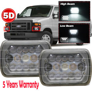 105w 5d 5x7 7x6 Led Headlight Hi Lo For Gmc Savana 1500 2500 3500 1996 2012