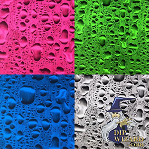 Water Drops Black Transparent Hydrographic Water Transfer Film Hydro Dipping