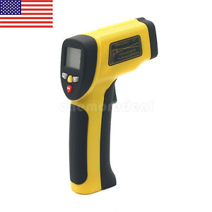 Ht 817 Digital Ir Infrared Thermometer Handheld Double Laser Temperature Gun Us