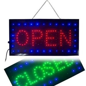Ovovo Ultra Bright Led 2 In 1 Open Closed Sign Business Signs For Drink