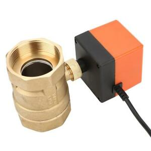 Ac 220v G2 Dn50 2 way 3 wire 2 point Brass Electrical Motorized Ball Valve Water