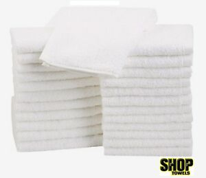 100 Terry Cloths Shop Rags Towels Cleaning Wiping 100 Cotton Janitorial 12x12