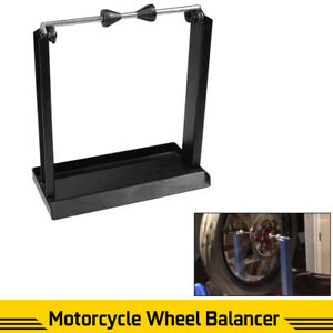 New Motorcycle Wheel Balancing Balancer Truing Portable Tire Rim Stand Weights