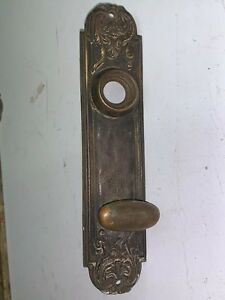 Antique Ornate Victorian Brass Bronze Door Knob Face Plate Eastlake Savoy Parts