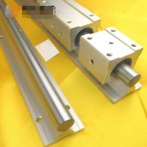 1pc Sbr35 1000mm Fully Supported Linear Rail Shaft Rod With Support Dia 35mm X1m