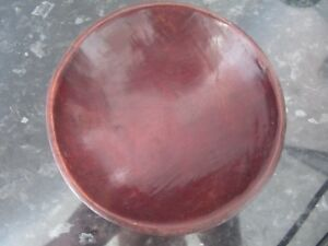 Vintage Red Wood Treen Exotic Bowl African Or American