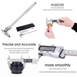 Digital Caliper 12 Inch 300 Mm Electronic Vernier Calipers Measuring Tool Harden