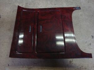 2007 14 Cadillac Escalade Esv Ext Ruby Red Wood Center Console Cup Holder Bezel