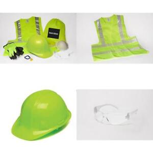 Safety Sacks All in one Construction Safety Kit Hard Hat High visibility Vest