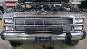 86 90 Jeep Xj Wagoneer Loaded Header Panel With Grille Lights Complete