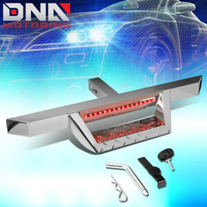 Universal Trailer Tow Hitch Step Bar Pin Clip W Led Brake Light Fits 2 Receiver