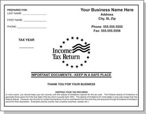 500 Custom Printed 9 X 12 Tax Preparation Catalog Envelopes