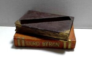 Literary Desk Accessory Don Quixote Lord Byron Book Paper Weight Note Holder