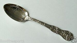 Sterling Silver Spoon Watson Illinois Rockford Public Library Lincoln Statue