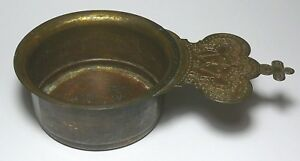 Kovsh Ladle Gold Plate Imperial Russian Orthodox Church Brass