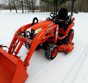 2018 Kubota Bx2680 Diesel 4x4 Loader Tractor Only 27 Hrs Comes With 60in Deck