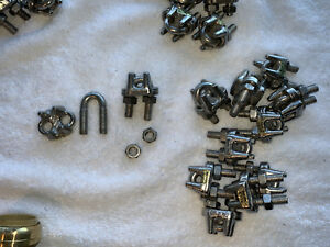 3 8 Stainless Steel Wire Rope Cable Clamp Clips 12pcs 316 Stainless Aisi 8