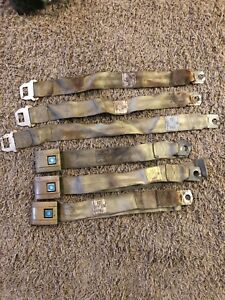 1968 Chevelle Gold Seat Belts
