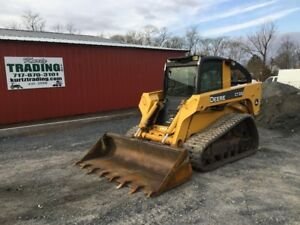 2008 John Deere Ct332 Compact Track Skid Steer Loader W Cab Only 2200hrs