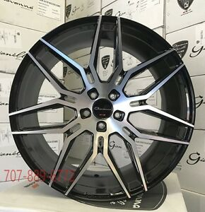 22x9 10 5 Giovanna Wheels Bogota Black Machined Face Rims Fits Camaro Ss Rs Zl1