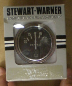 Stewart Warner Amperes Gauge New Old Stock Nos