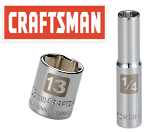 Craftsman Easy Read Socket 1 4 Drive Shallow Or Deep Metric Or Inch Choose Size