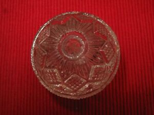Antique Glass Drawer Pull Knob 1800s Victorian 2 1 4 Vtg Plus Free Chipped One