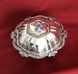 Vintage Butter Dish Silver Plate With Cover