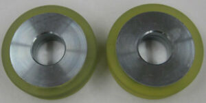 Set Of 2 Floorcrafter Side Wheels American Sanders Clarke Part 50992a