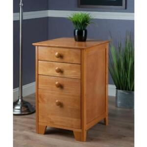 Winsome Solid Wood 4 Drawer Lateral Wood File Cabinet In Honey Pine