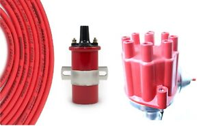 Billet Distributo r Red 8 5mm Spark Plug Wires Coil 1961 67 Buick 215 300 34 0