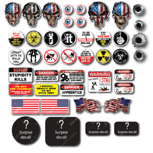 38x Funny Hard Hat Helmet Sticker Electrician Union Decal Construction Toolbox