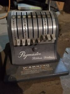 Vintage Collectible Paymaster 8000 Series Check Writer